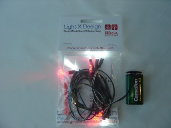 Car LEDs 10er Set weiss/rot