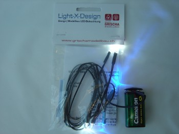 Car LEDs 6er Set weiss/blau
