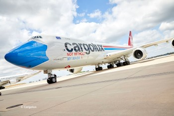 Boeing 747-8F Cargolux not without my mask