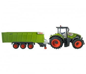 CLAAS Axion 870 + Cargos Trailer