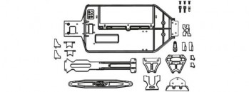 Carson Y10EB Chassis und Anbauteile-S