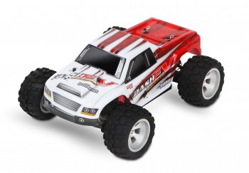 Dashev Monster Truck 1:18 weiss/rot
