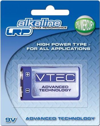 VTEC Alkaline 9V Block Ultra Performance