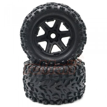 Tires & wheels assembled glued black 17mm