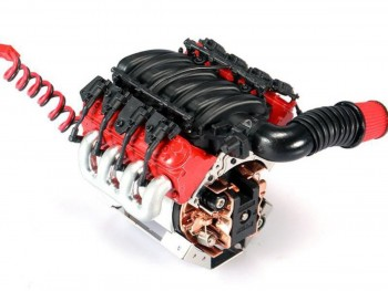 Scale Engine LS3 V8 6.2L with Cooling Fan and Temp. Sensor for TRX-4 1/10