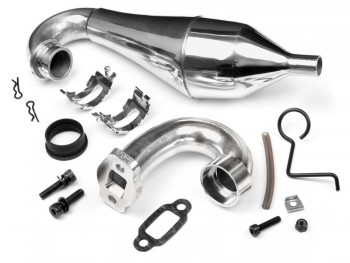 Baja5B Aluminium Tuned pipe set W/HD Steel Header