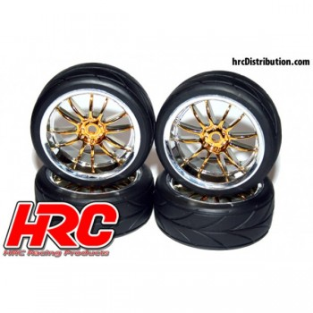 HRC - Street Tires Gold/Chrom 4Stk.