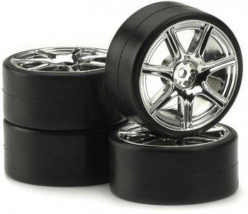 Ansmann - Reifen-Felgen-Set Drift Pro Chrome