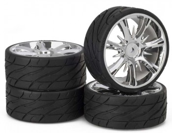 Ansmann - Tire+ Rim Set LP Twister