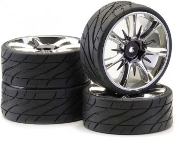 Ansmann - Tire+ Rim Set LP Twister Smoke Chrome