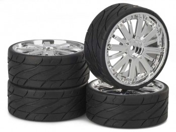 Ansmann - Tire+Rim Set LP Dubstar Chrome
