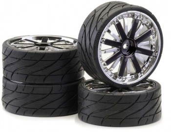 "Ansmann - Tire""Rim SetLP "" Dubstar "" Smoke-Chrome"