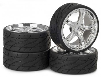 Ansmann - Tire+ Rim Set LP Rockstar Chrom
