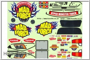 "Kyosho - Decals ""Mad Force"""