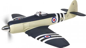 Sea Fury ARF (1:7) GFK Rumpf Navy Blue lackiert, Quer/Flap