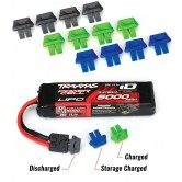 Battery charge indicators (green (4), blue (4), grey (4)
