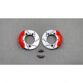 Brake Rotor Calpier Set Silver for TRX4