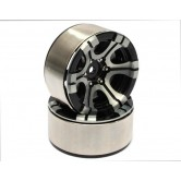 1.9 High Mass Beadlock Aluminum Wheels Twin-6D (2Stk.)
