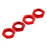 Aluminum Wheel Nut 17mm Red Nero (4)