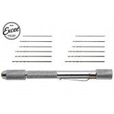 Tool - Pin Vise - Mini Pin Vise with 12 Assorted Drills