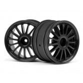 HPI WR8 Tarmac Wheel Black/57X35mm