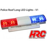 HRC - Light Kit LED Police Roof Long / Lights V1-6 Flashing Modes (Blue/Red)