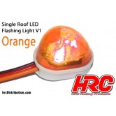 Dach Blinklicht V1 Orange LED JR Stecker