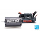 Combo NEON 550 (4P/3800KV/3mm shaft/R10SC WP 100A ESC)